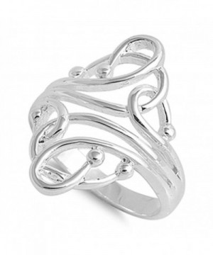Fashion Abstract Sterling Silver RNG14974 9