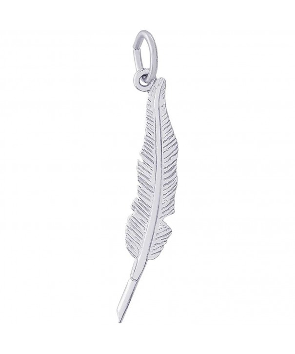 Rembrandt Charms Feather Sterling Silver