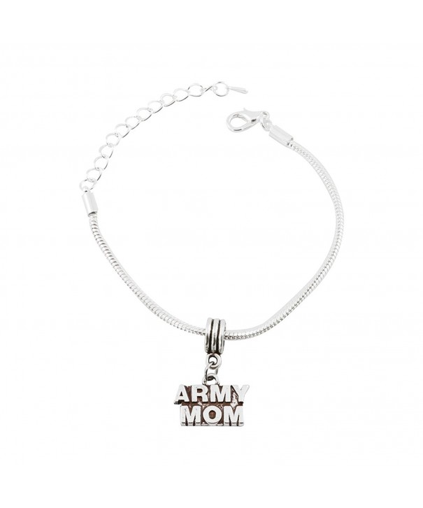 Army Snake Chain Charm Bracelet
