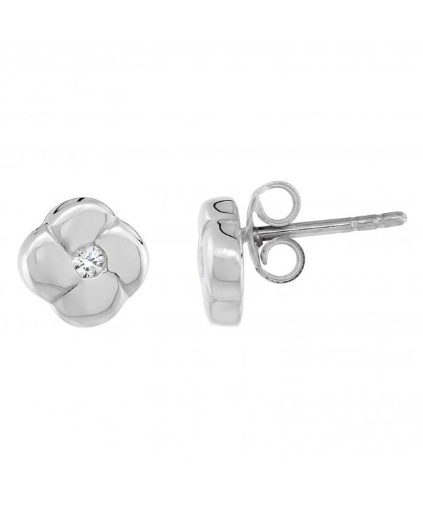 Sterling Silver Diamond Earrings Flawless