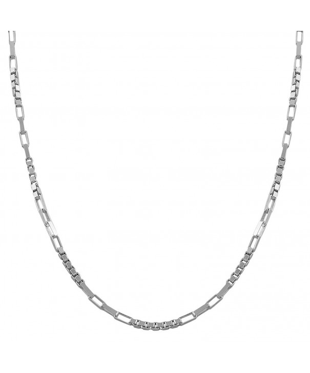 Sterling Silver Alternate Chain Necklace