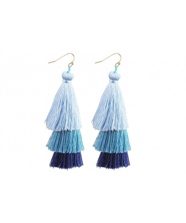 Mina Tiered Fringe Statement Earrings