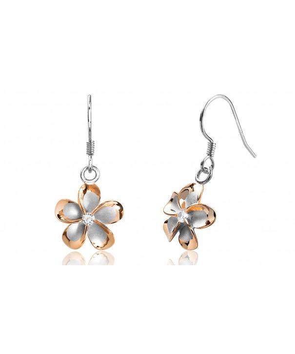 Sterling Silver Plated Plumeria Earrings