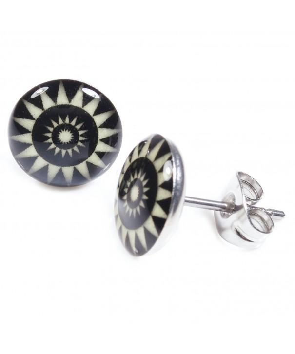 Pair Stainless Steel Flower Earrings