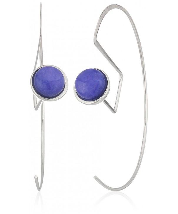 Danielle Nicole Silver Purple Earrings