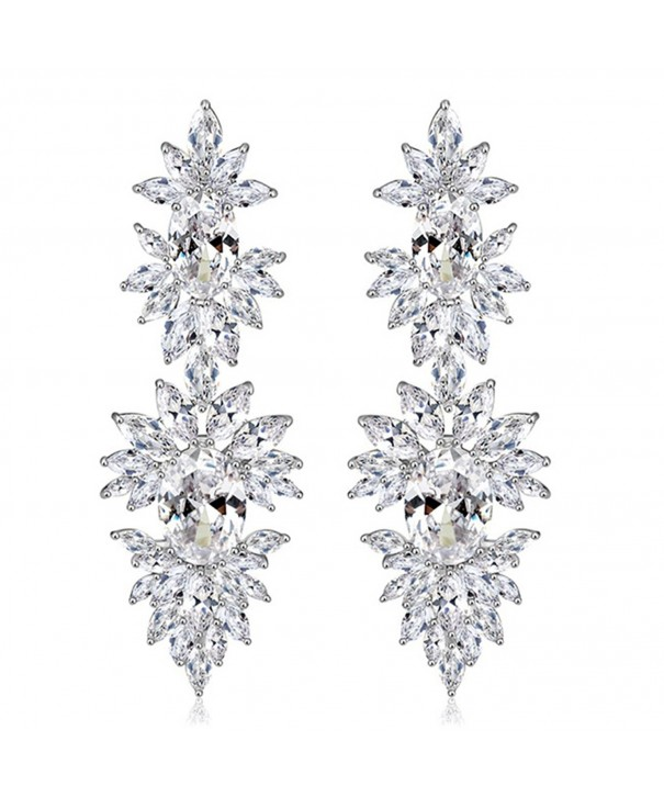 SELOVO Cluster Pierced Earrings Crystal