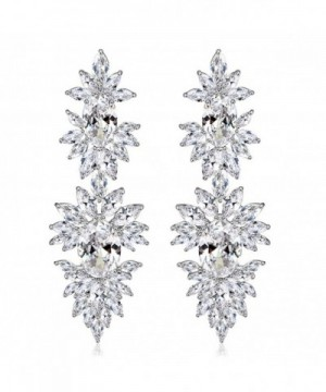 SELOVO Cluster Pierced Earrings Crystal