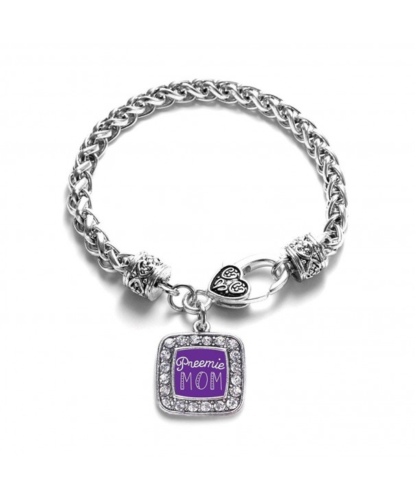 Preemie Classic Silver Crystal Bracelet