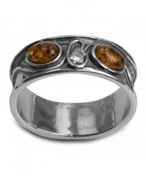 Sterling Silver Amber Crystal Oval