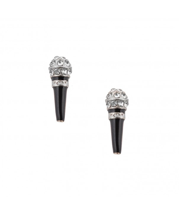 chelseachicNYC Karaoke Microphone Earrings Silver