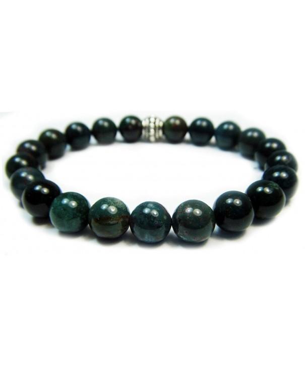 BLOODSTONE Genuine Crystal Gemstone Bracelet