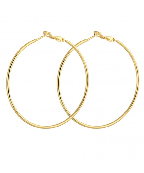 YAZILIND Circle Polished Earrings Diameter
