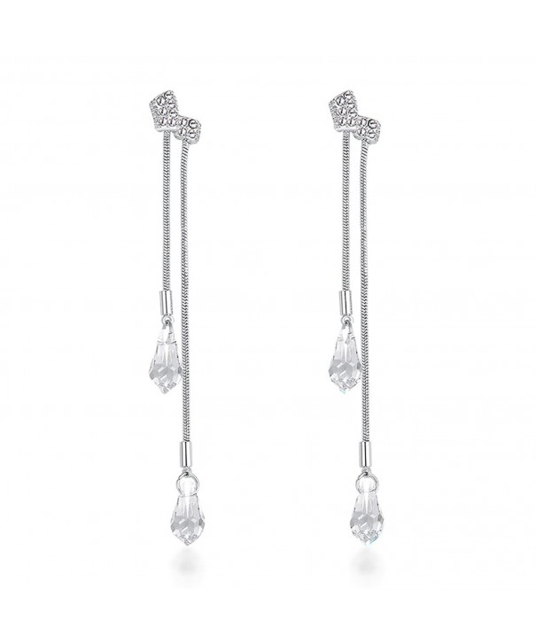 Sterling Teardrop Zirconia Earrings earrings