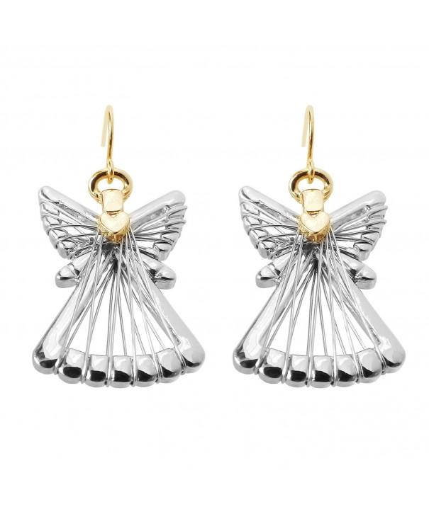 Silver Dangle Earrings Christmas RareLove