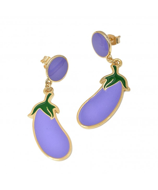 Spinningdaisy Plated Lavender Eggplant Earrings