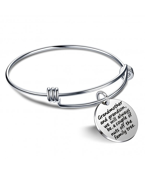 Grandmother Grandson Bangle Bracelet Family