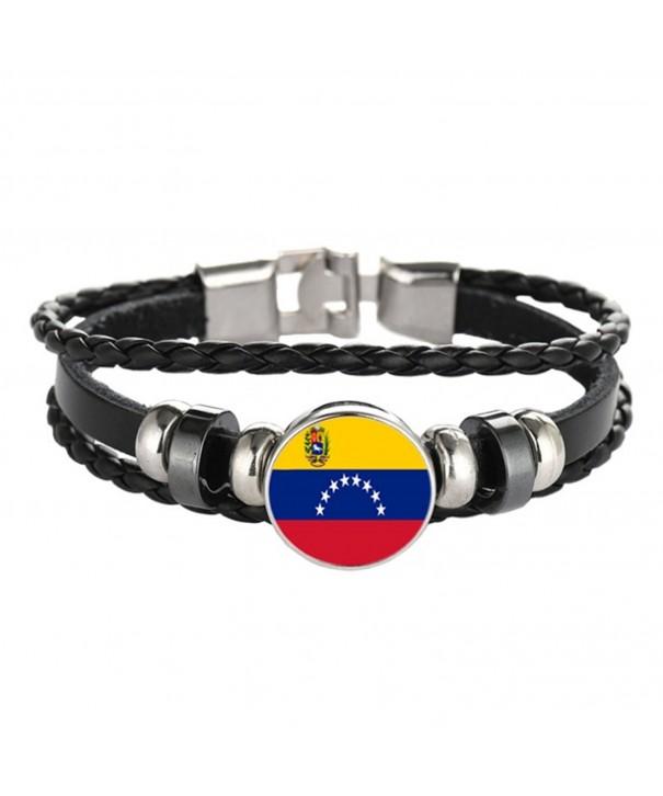 Patriotic bracelet Ukraine Braided Venezuela