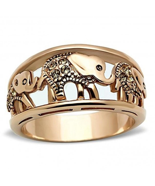 Stainless Steel Filigree Parading Elephants