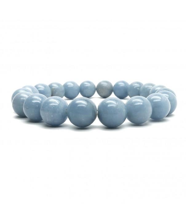 Angelite Bracelet 02 Stretch Gemstone