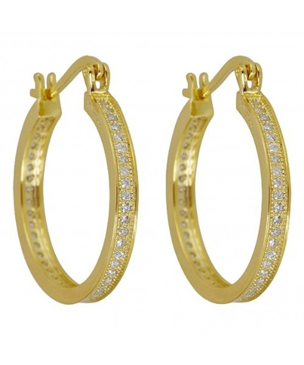 Sterling Zirconia Micropave yellow gold sterling silver