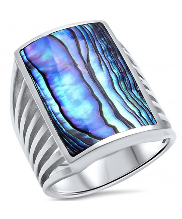 Simulated Abalone Shell Sterling Silver