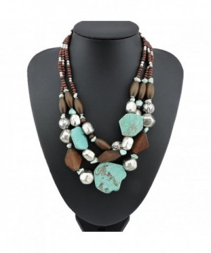 Personalized Layered Turquoise Statement Necklace