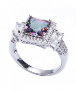 Sterling Silver Princess Rainbow Colored