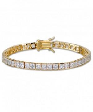 Tennis Square Simulated Diamond Bracelet