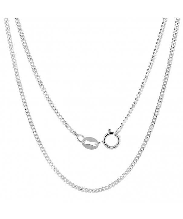 Sterling Silver Cuban Necklace Nickel