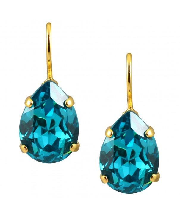 Mariana Plated Raindrop Crystal Earrings