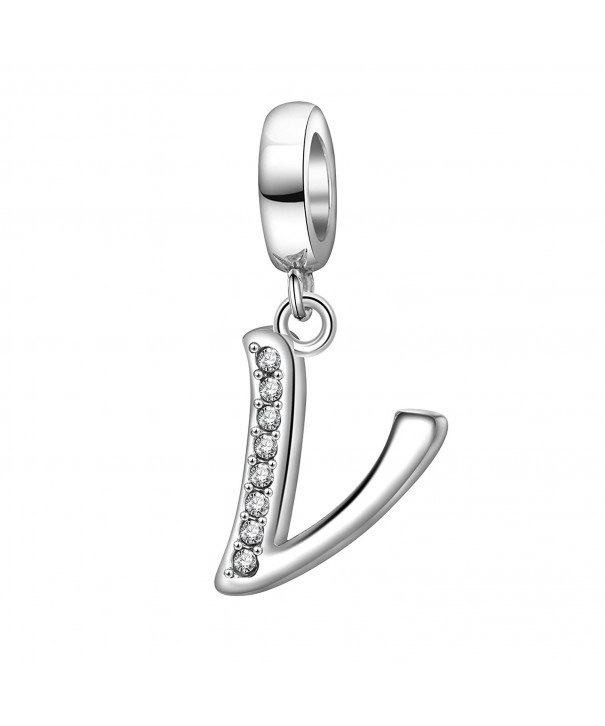 Alphabet Sterling Initial Bracelet Necklace