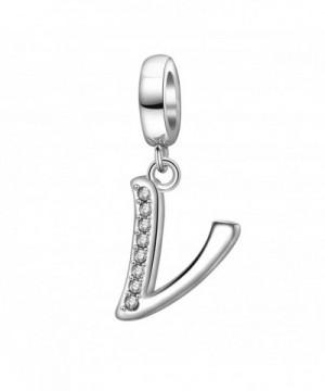 Alphabet Sterling Initial Bracelet Necklace