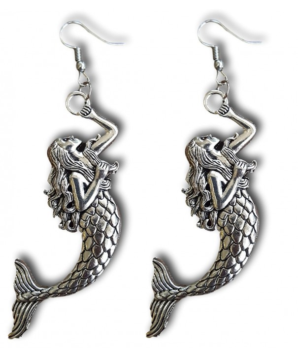 Mermaid Silver Dangle Earrings Pashal
