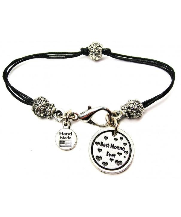 ChubbyChicoCharms Pewter Beaded Cotton Bracelet
