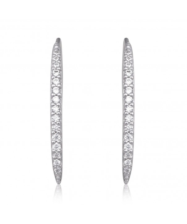 Sterling Zirconia Simulated Diamond Earrings