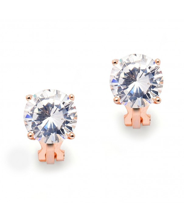 Mariell Carat Clip Earrings Solitaire