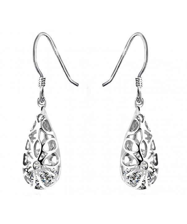 Sterling Vintage Inspired Teardrop Filigree Earrings