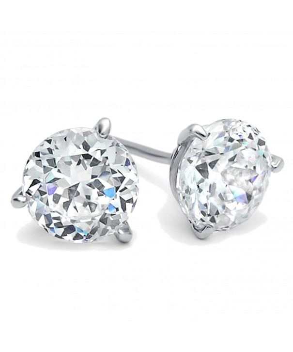 Diamoni Collection Rhodium Sterling Earrings