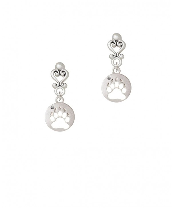 Bear Paw Silhouette Filigree Earrings