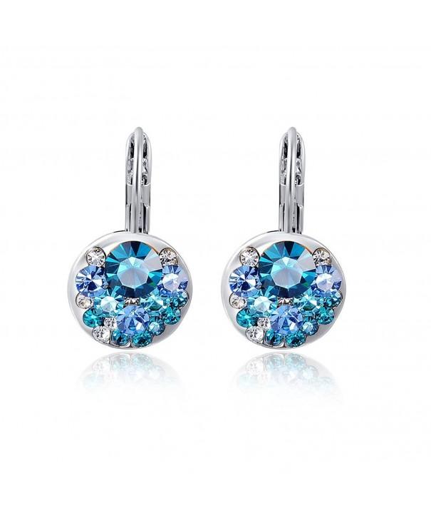 Suyi Austrian Crystal Earrings Multi colored