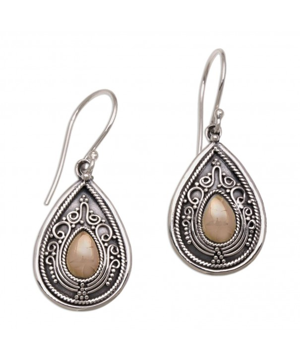 NOVICA Sterling Earrings Gold Plated Accents