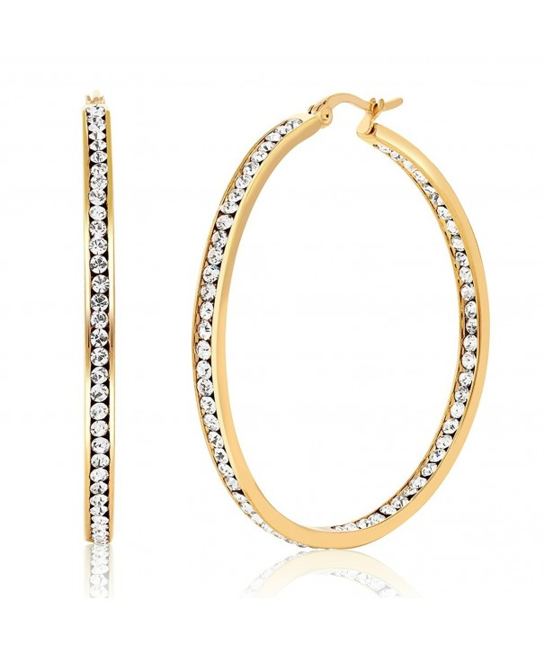 Stainless Yellow Plated Inside Out Earrings