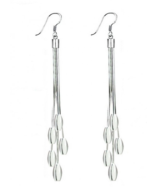 Sterling Silver Teardrop Dangling Earrings