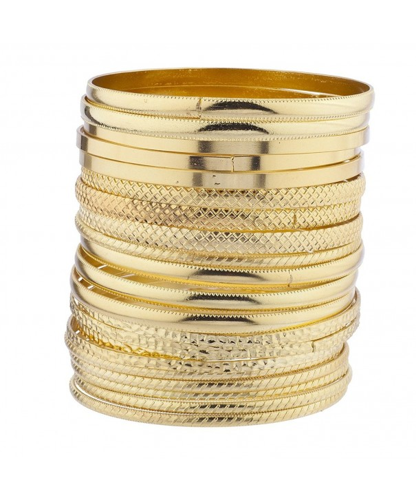 Lux Accessories Goldtone Textured Bracelet