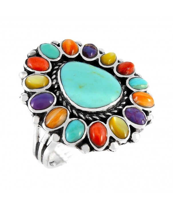 Turquoise Sterling Gemstones Southwest Multi Gemstones