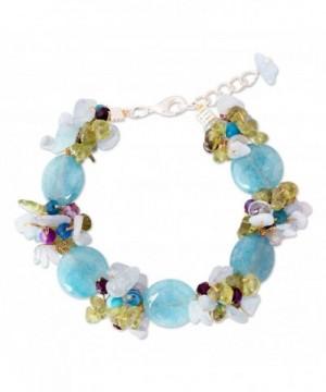 NOVICA Multi Gemstone Aquamarine Bracelet Romance