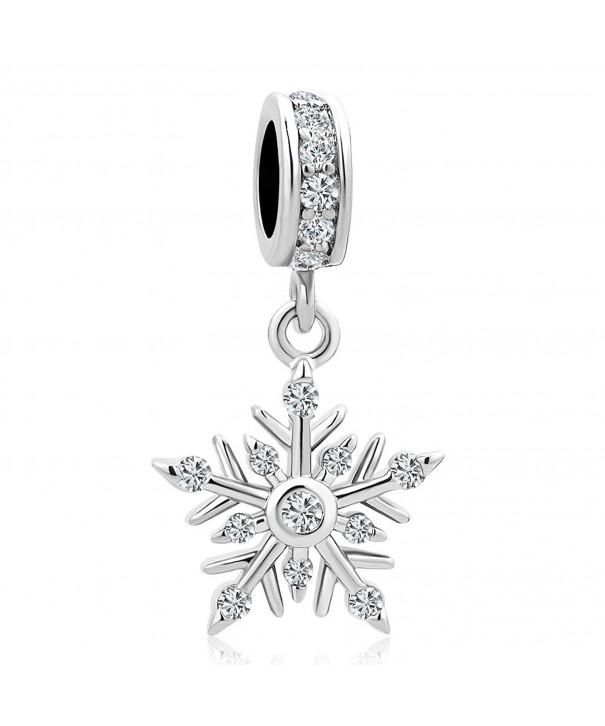 LuckyJewelry Winter Snowflake Charms Bracelets