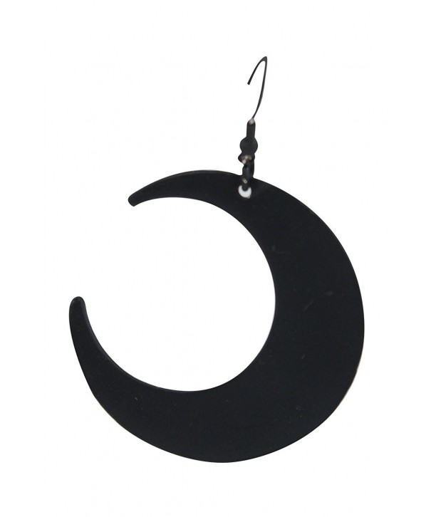 Restyle Occult Crescent Black Earrings
