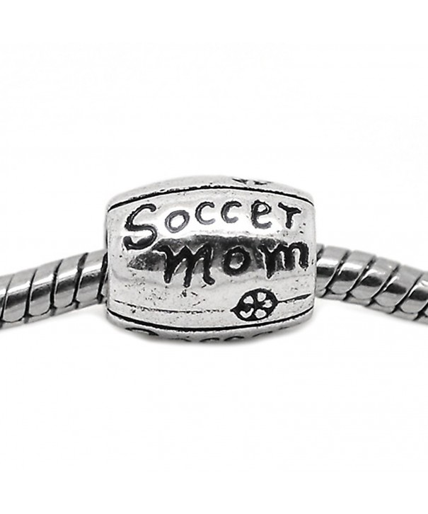 European Design Soccer Spacer Bracelet
