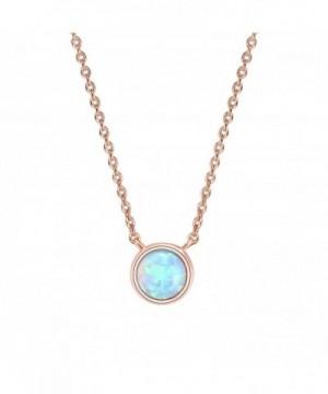 PAVOI Plated Round Bezel Necklace